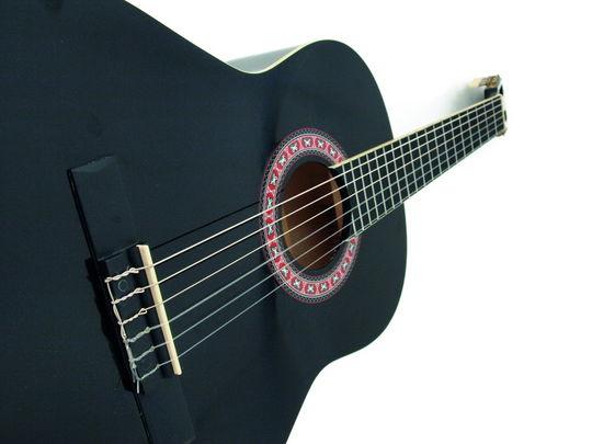 achat vente guitares guitares acoustiques dimavery guitare classique ac 303 noir rockstation. Black Bedroom Furniture Sets. Home Design Ideas