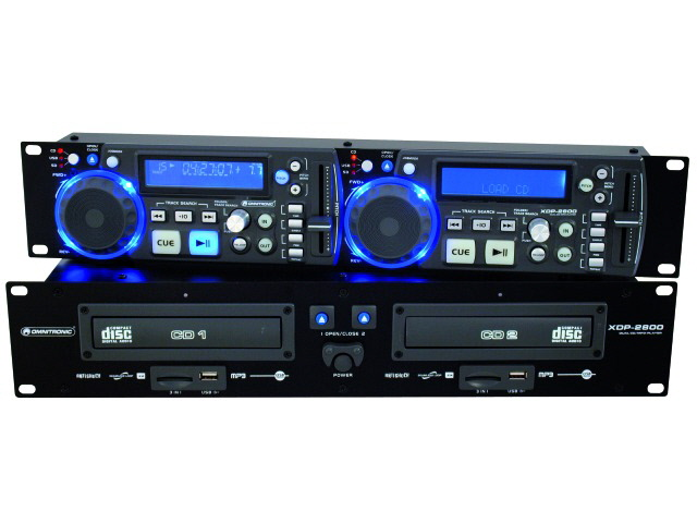 OMNITRONIC XDP-2800 double lecteur CD/MP3 + USB + SD