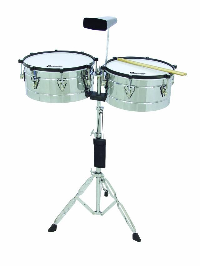 DIMAVERY Timbales TB-50 Pack 13' 14' Chrome
