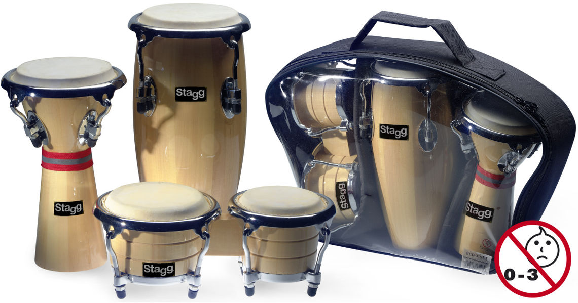 STAGG MINI BONGO,CONGA & DJEMBE SET
