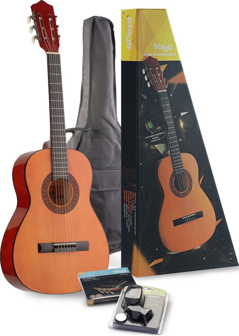 stagg c530 tr guitare classique 3-4 rouge