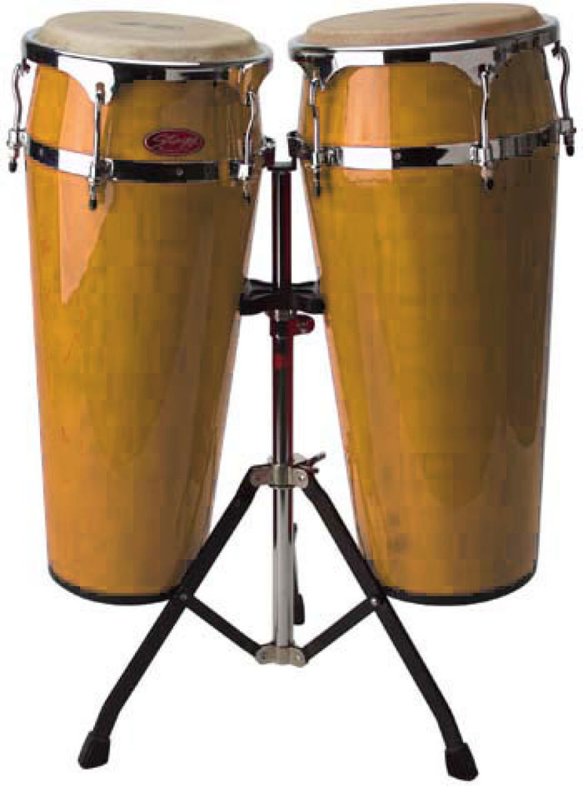 STAGG 10+11' LATIN DRUMS+STAND-AMBRE'