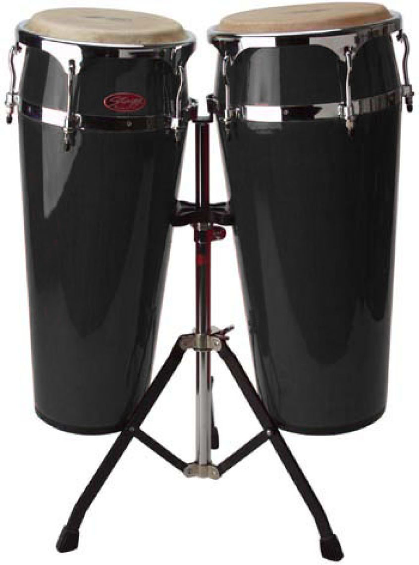 STAGG 10+11' LATIN DRUMS+STAND-NOIR'