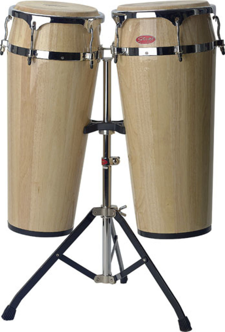 STAGG 10+11' LATIN DRUMS+STAND-NATRL'