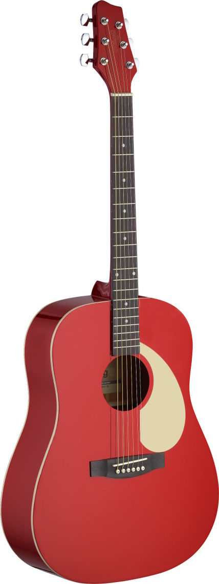 STAGG Guitare Folk SA30D-RA Rouge
