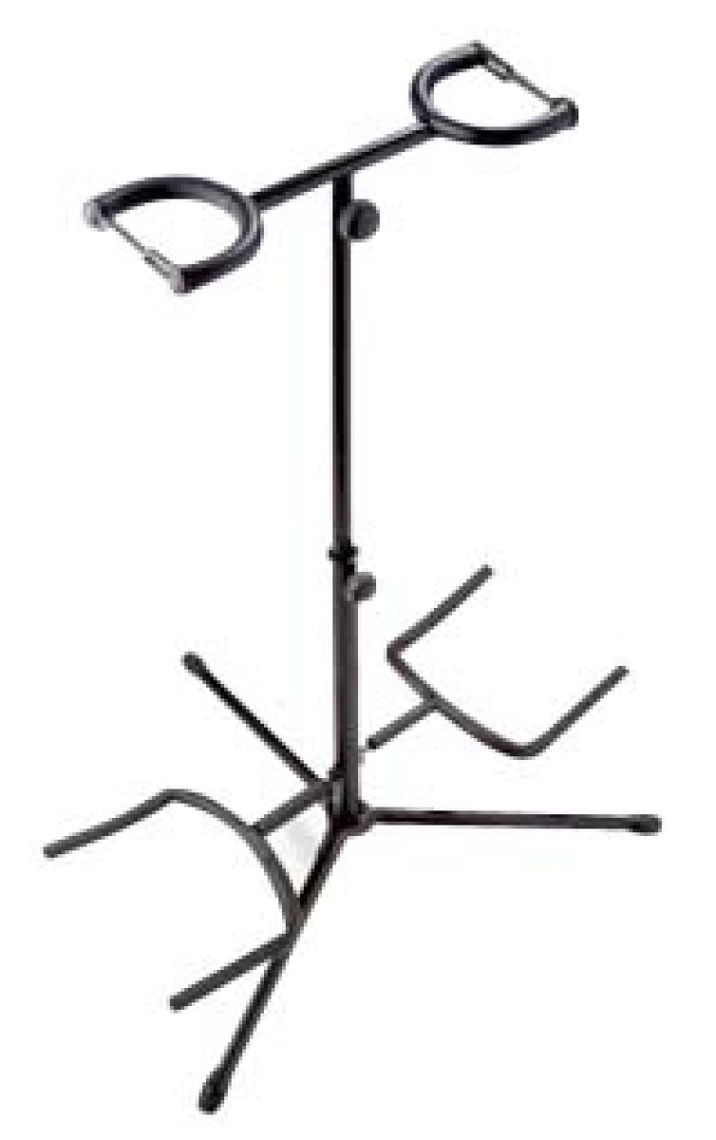 STAGG STAND NOIR POUR 2 GUITARES